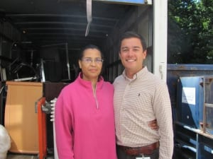 Sean Almonte, Wartburg Project Manager and Sharon Carberry, MOM Treasurer