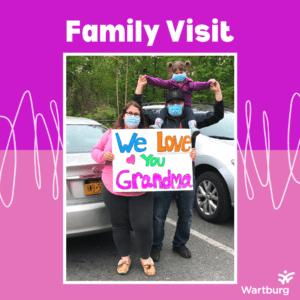 Family Visiting their Grandma